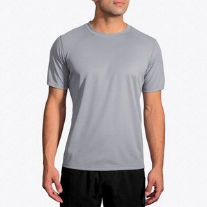 Brooks Podium Grey Crewneck Short Sleeve T-Shirt